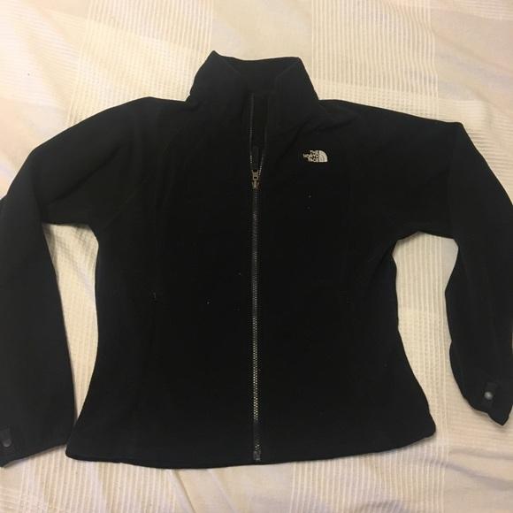 North Face black fleece jacket